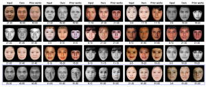 Comparison of face-aging methods
