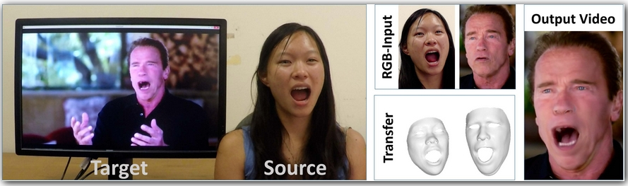 Face2Face: Real-time Face Capture and Reenactment of RGB Videos