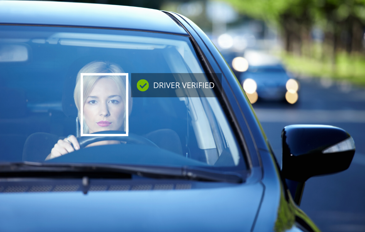 Face recognition in cars