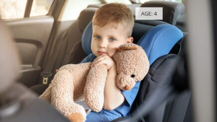 Child occupant protection in cars using age estimation