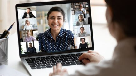 Blur or replace video conferencing background in real time